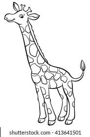 Giraffe To Color : giraffe, color, Giraffe, Color, Images,, Stock, Photos, Vectors, Shutterstock