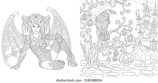 gothic coloring pages # 8