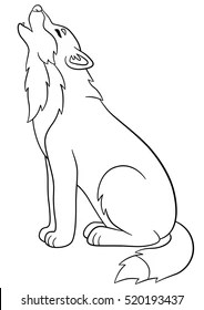 Wolf Coloring Page Images Stock Photos Vectors Shutterstock