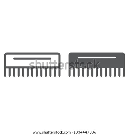 comb line glyph icon