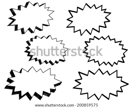 Comic Style Action Word Bubbles Different Stock Vector