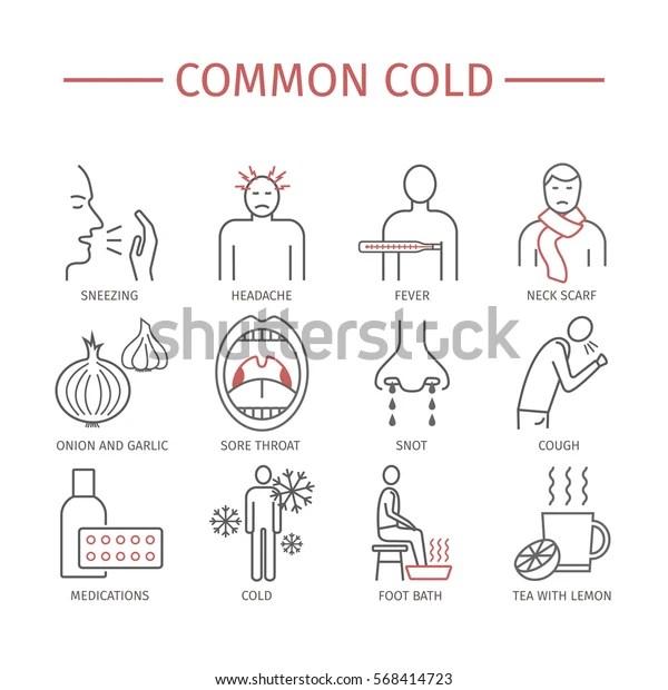 Common Cold Flu Season Symptoms Treatment | Royalty-Free Stock Image