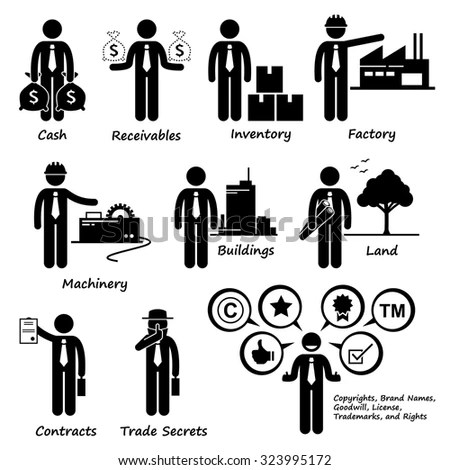 Company Business Assets Pictogram Stock Vector (Royalty