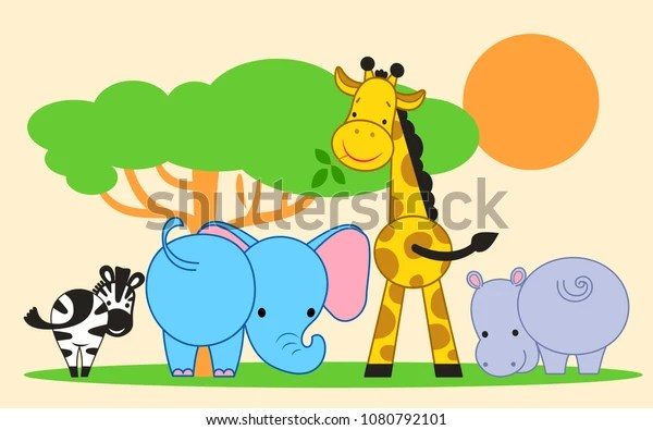 composition cute funny animals