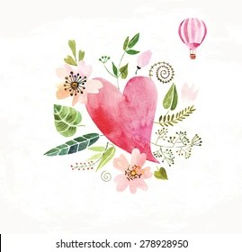 hearts and flowers images