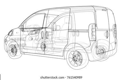 Similar Images, Stock Photos & Vectors of Car line draw