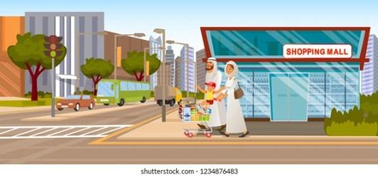 cartoon go mall shopping cart shutterstock road