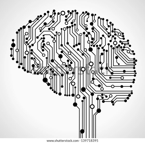 Concept Thinking Background Abstract Human Brain Stock