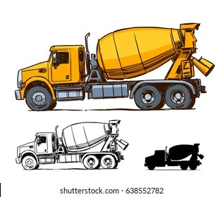 concrete truck images stock