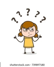 Confused Person Cartoon : confused, person, cartoon, Confused, Cartoon, Stock, Images, Shutterstock