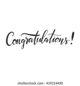 Congratulations Word Images, Stock Photos & Vectors