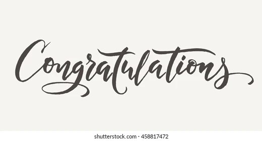 Congratulations Calligraphy Images, Stock Photos & Vectors