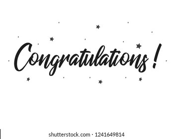 handwritten congratulations Images, Stock Photos & Vectors