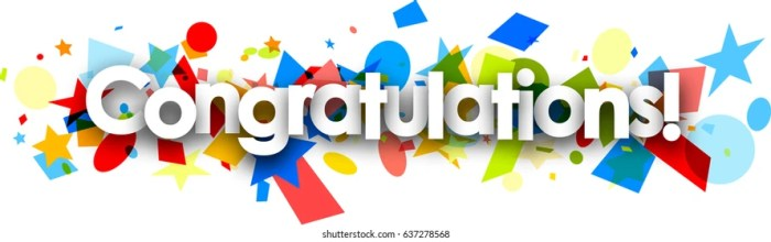 Congratulations Header Images, Stock Photos & Vectors | Shutterstock