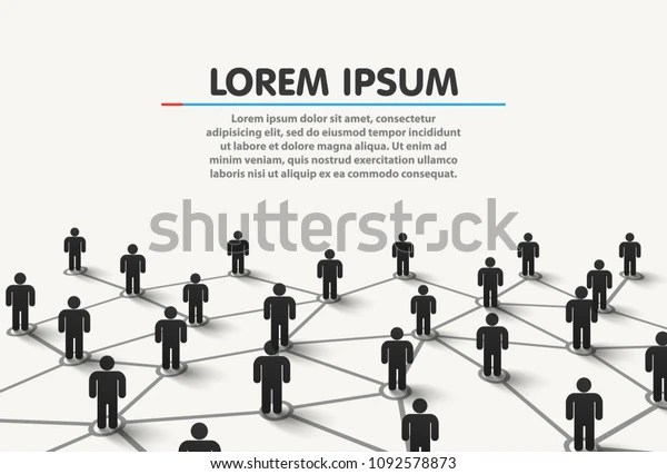 Connecting People Social Network Concept Vector Stock