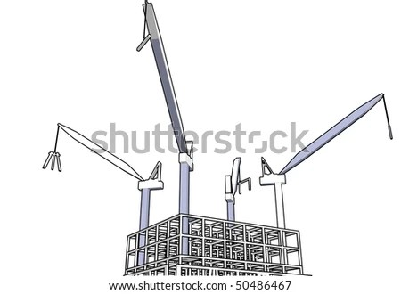 Construction Tower Crane Stock Vector (Royalty Free