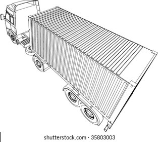 Articulated Lorry Images, Stock Photos & Vectors