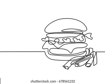 Hamburger and Fries Images, Stock Photos & Vectors