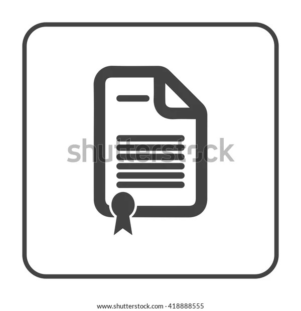 Contract Document Icon Stock Vector (Royalty Free) 418888555