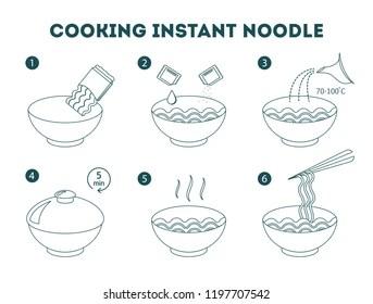 Noodles On Black Stock Illustrations, Images & Vectors