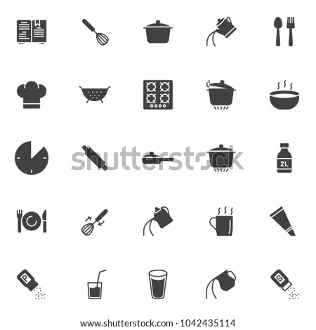 Cooking Instructions Vector Icons Set Modern 스톡 벡터(사용료 없음