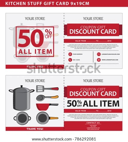 kitchen stuff on sale sink repair coupon template 50 stock vector royalty free of with discount illustration