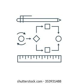 Process Flow Icon Stock Vectors, Images & Vector Art