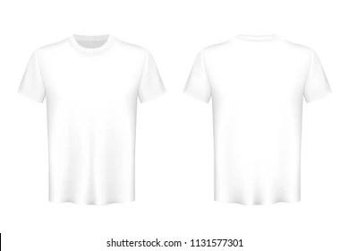 White T Shirt Transparent Background Stock Illustrations