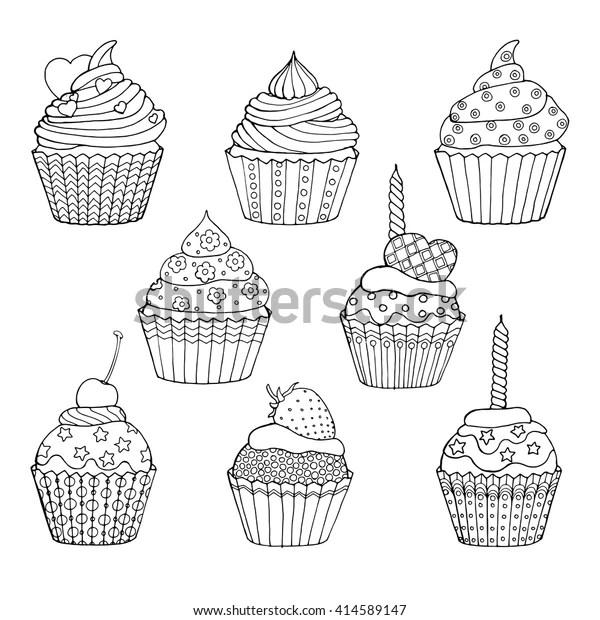 Muffin Zum Ausmalen - Malvorlagen Gratis