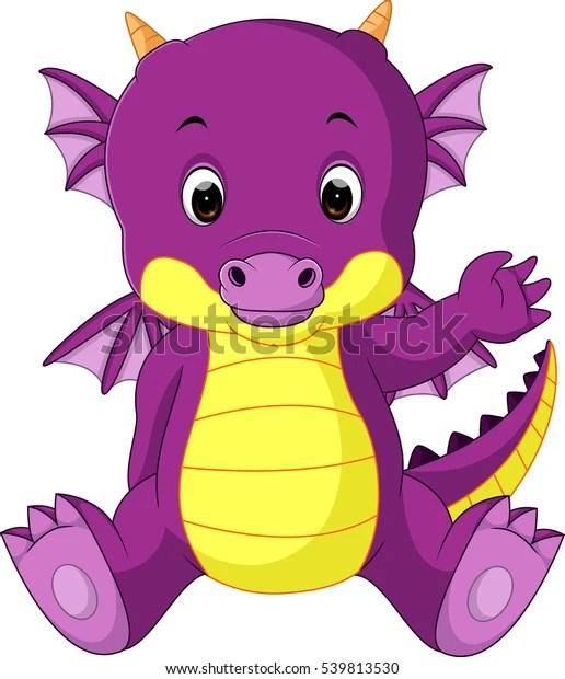 Cute Baby Dragon Cartoon Stock Vector Royalty Free 539813530