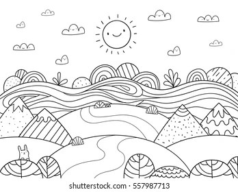 mountain coloring page # 5