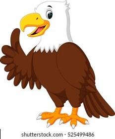 Cute Cartoon Eagle : cartoon, eagle, Cartoon, Eagle, Images,, Stock, Photos, Vectors, Shutterstock