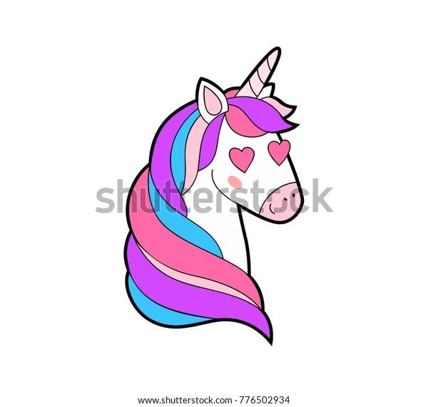 Download Cute Fat Unicorn Love Print Enamored Stock Vector (Royalty ...