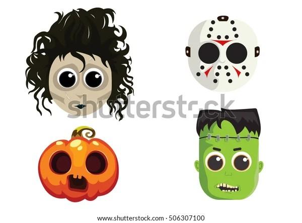 cute halloween masks stock