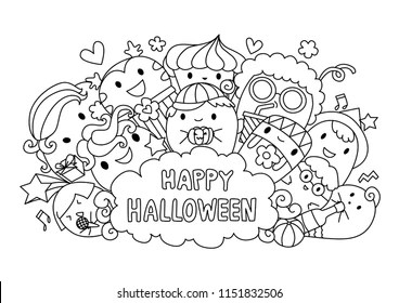 Halloween Colouring Pages Images, Stock Photos & Vectors