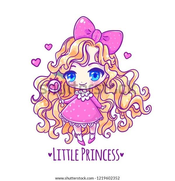 https www shutterstock com fr image vector cute vector illustration kawaii anime girl 1219602352