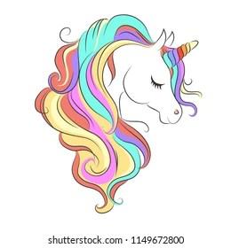 Rainbow Unicorn Cute Images Stock Photos Vectors Shutterstock