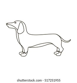 Dachshund Outline Images, Stock Photos & Vectors