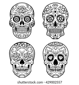 sugar skull images stock