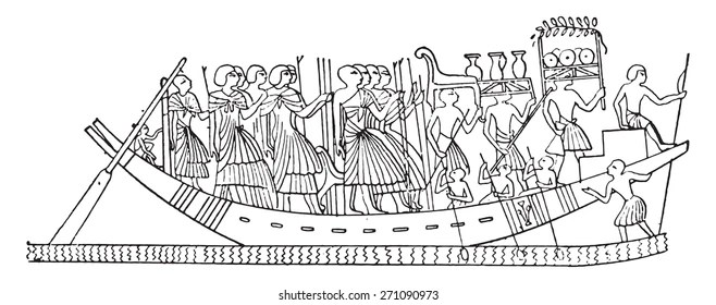 Ancient Egyptian Boat Images, Stock Photos & Vectors