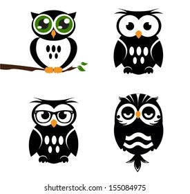 Cartoon Owl Eyes Stock Images, Royalty-Free Images