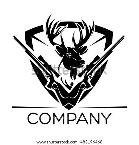 Deer Hunting Logo Stock Vector (Royalty Free) 483196468