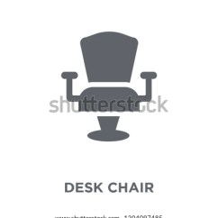 Chair Design Icons Blue Bay Hats Desk Icon Stock Vector Royalty Free Concept From Furniture And Household Collection Simple Element