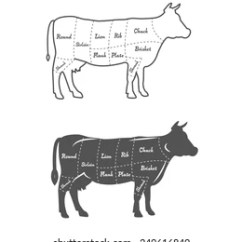 Labelled Diagram Of A Cow House Master Switch Wiring Outline Images Stock Photos Vectors Shutterstock Detailed Illustration Scheme Or Chart American Cut Beef