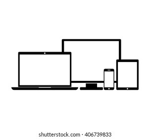 laptop, tablet and smartphone icons Stock Vectors, Images