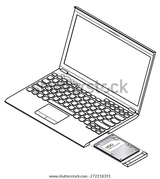 Diagram Showing Installation Removal Hard Disk Stock