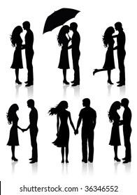 Couple Silhouette Images, Stock Photos & Vectors