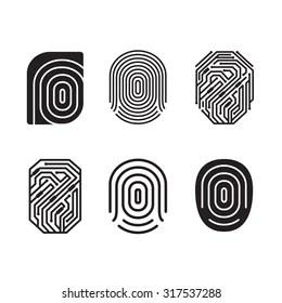 Bilder, Stockfotos und Vektorgrafiken fingerprint logo