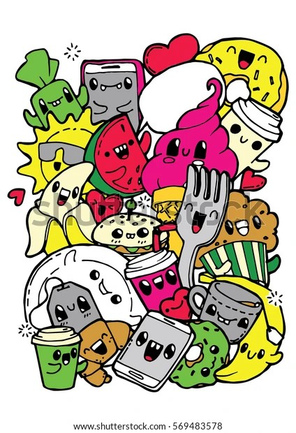 Breakfast Doodles : breakfast, doodles, Dining, Doodles, Breakfast, Lunch, Dinner, Stock, Vector, (Royalty, Free), 569483578
