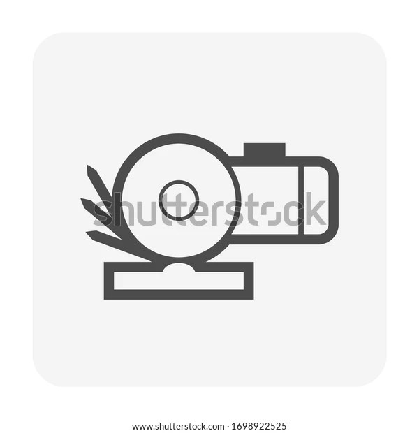 Disc Cutting Grinding Tool Vector Icon Stock Vector